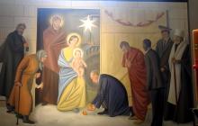 """В Беларуси """"канонизировали"""" Путина и Обаму - в костеле нанесли на фреску изображения президентов, восхваляющих рождение Иисуса, - кадры"""