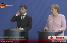 Что произошло на совместной пресс-конференции Зеленского с Меркель в Берлине: появилось полное видео
