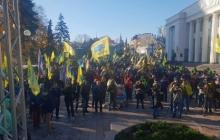 """Митинг """"Авто Евро Силы"""" под Радой: сотни митингующих, полицейские кордоны и побитый депутат - кадры"""