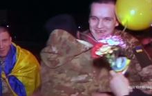 Герои вернулись: появилось яркое видео, как в Луцке встречали освобожденных из плена террористов Артема Виндюка и Владимира Гизуна, - кадры