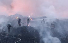 Масштабный пожар в Полтаве: горит мусорный полигон, в городе нечем дышать