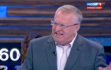 """Жириновский """"наехал"""" на Путина из-за Зеленского и устроил истерику в эфире у Скабеевой"""