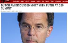 Признал ли Путин вину за сбитый МН17: премьер Ниделандов подтвердил тайные переговоры, поразив деталями, - СМИ