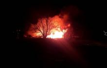 В Кременчуге вертолет врезался в телевышку, все объято огнем - кадры