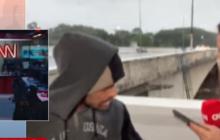 Грабитель с ножом обокрал журналистку CNN во время прямого включения