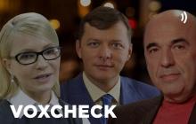 VoxCheck: Тимошенко, Ляшко и Рабинович – лидеры по лживым высказываниям