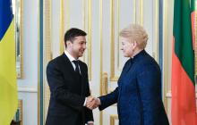 Зеленский вошел в строй сразу после инаугурации: президент встретился с главой Литвы Грибаускайте