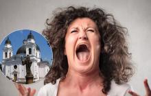 """""""Уже пора его открыть!"""" - в Черновцах женщина устроила истерику из-за отказа пустить ее в храм УПЦ МП"""