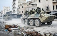В Сирии подорвали российский БТР: взрыв СВУ отбросил бронетранспортер на бетонный отбойник