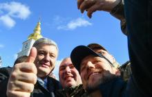 Не боясь и по-простому: Порошенко произвел фурор появлением на улице Киева - видео