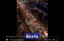 В Минске отключили городское освещение: сотни машин устроили сигнальный протест