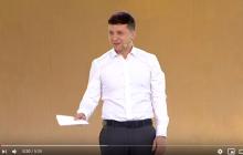 Зеленский оригинально пошутил по поводу Порошенко на съезде партии: видео вызвало ажиотаж соцсетей