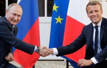 Макрон при Путине не назвал Россию агрессором или стороной конфликта на Донбассе - детали