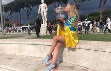Фантастический кадр: Свитолина после грандиозной победы произвела фурор в Риме с флагом Украины