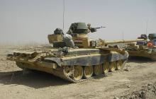 В Сирии повстанцы на БМП пошли на таран танка Т-72: видео боя