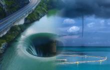 На глазах у тысячи жителей Земли в Бермудском треугольнике сформировался 600-метровый портал в ад