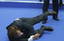 Рухнул от смеха при виде Путина: на встрече журналистов и российского президента произошел неприятный казус