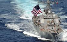 Эсминец США заставил россиян отступать в Аравийском море: корабли едва не начали бой - видео