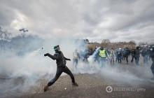 """Париж в огне и дыме: Франция снова охвачена мощными протестами """"желтых жилетов"""""""