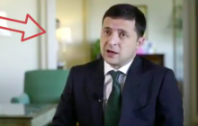 """Соцсети увидели """"призрака"""" во время интервью Зеленского - кадры"""