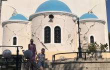 Вслед за Турцией землетрясение произошло на греческом острове Самосе, кадры