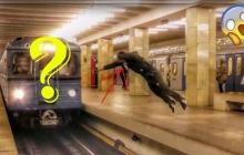 В московском метро неизвестный чуть не лишился головы из-за экстремального прыжка: опубликовано видео