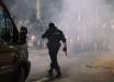 В Беларуси протестующие в Брестской области подожгли милицейское авто