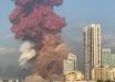 В Сети показали видео пламенного неба после взрыва в Бейруте