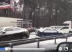 Снежный апокалипсис в Киеве сняли на видео: снегопад отрезал аэропорт, машины застряли в огромной пробке