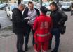 Появились кадры драки в Киеве ветерана АТО Маймана и бизнесмена Тесли: мужчин растащила охрана и прохожие
