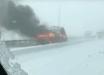 Взрыв автомобиля из-за ДТП в Ростове: снегопад стал причиной резонансного инцидента на дороге - кадры