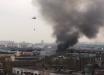 В Москве пожар 3-го ранга сложности - черный дым заслонил небо, летают вертолеты: кадры