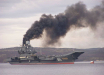 """На российском авианосце """"Адмирал Кузнецов"""" новая беда: вспыхнул крупный пожар, пропали люди - видео"""