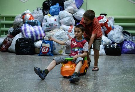 Беженцы, Украина, гуманитарные лагеря, Россия, Краматорск