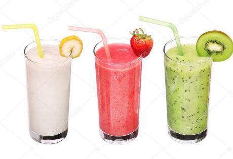 мультивитаминный, смузи, напиток, бодрости, клубничный, радость, гормон, клубника