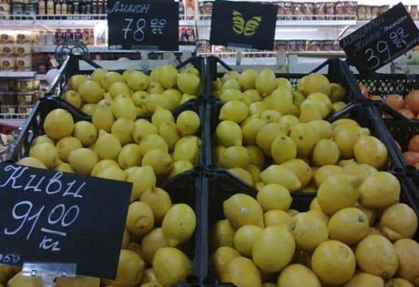 Цены на продукты в Донецке: лимоны по 78 грн, лук по 10 грн и курица по 50 грн