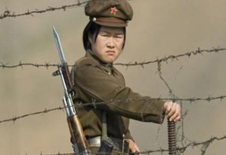 Северная, Южная, Корея, перестрелка, военные, автоматы