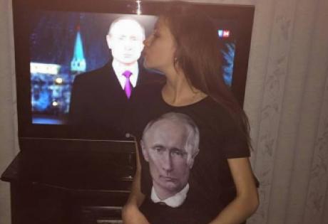 Владимир Путин, россияне. селфи с Путиным, телевизор, новогоднее поздравление Путина, общество, новости России, фото, видео