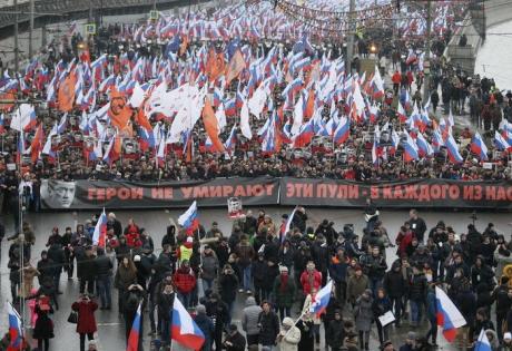 немцов, москва, марш памяти, россия