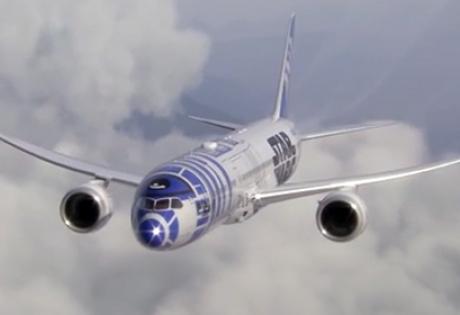 """япония, авиакомпания, лайнер, робот, """"звездные войны"""""""