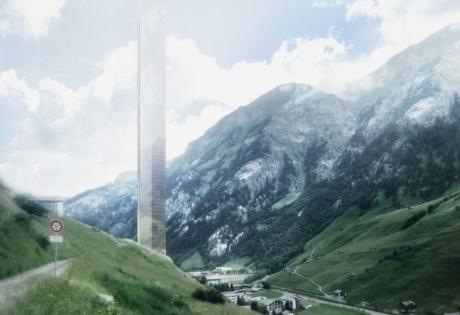 альпы, европа, небоскреб,бюро Morphosis
