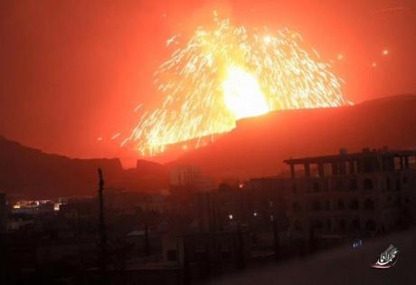 война в йемене, происшествия, взрывы, пожар, саудовская аравия