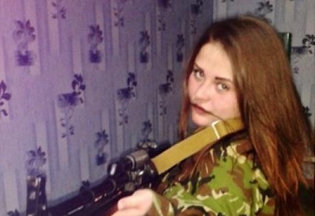 снайпер, девушка, задержанная
