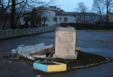 памятник ленину, днепропетровск, происшествия, общество, новости украины, мвд