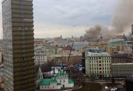 москва, пожар, происшествия, россия