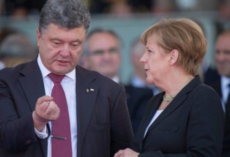 Порошенко, Меркель, призыв, восток, Украина, мир