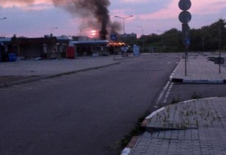 донбасс, донецк, происшествия, автовокзал западный, горит, пожар, ато, обстрел, украина, новости