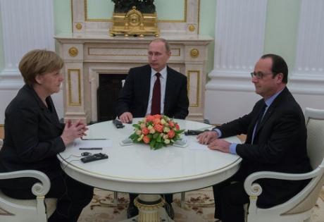 Главное за день 6 февраля: итоги встречи Путина, Меркель, Олланда; импорт украинского мяса в РФ; обстрелы Горловки