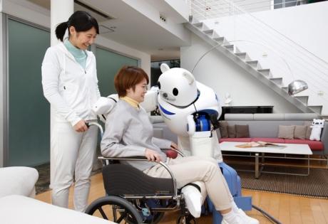 робот, медицина, медведь, япония, сиделка