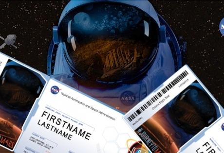 NASA, Марс, путешествие, микрочип